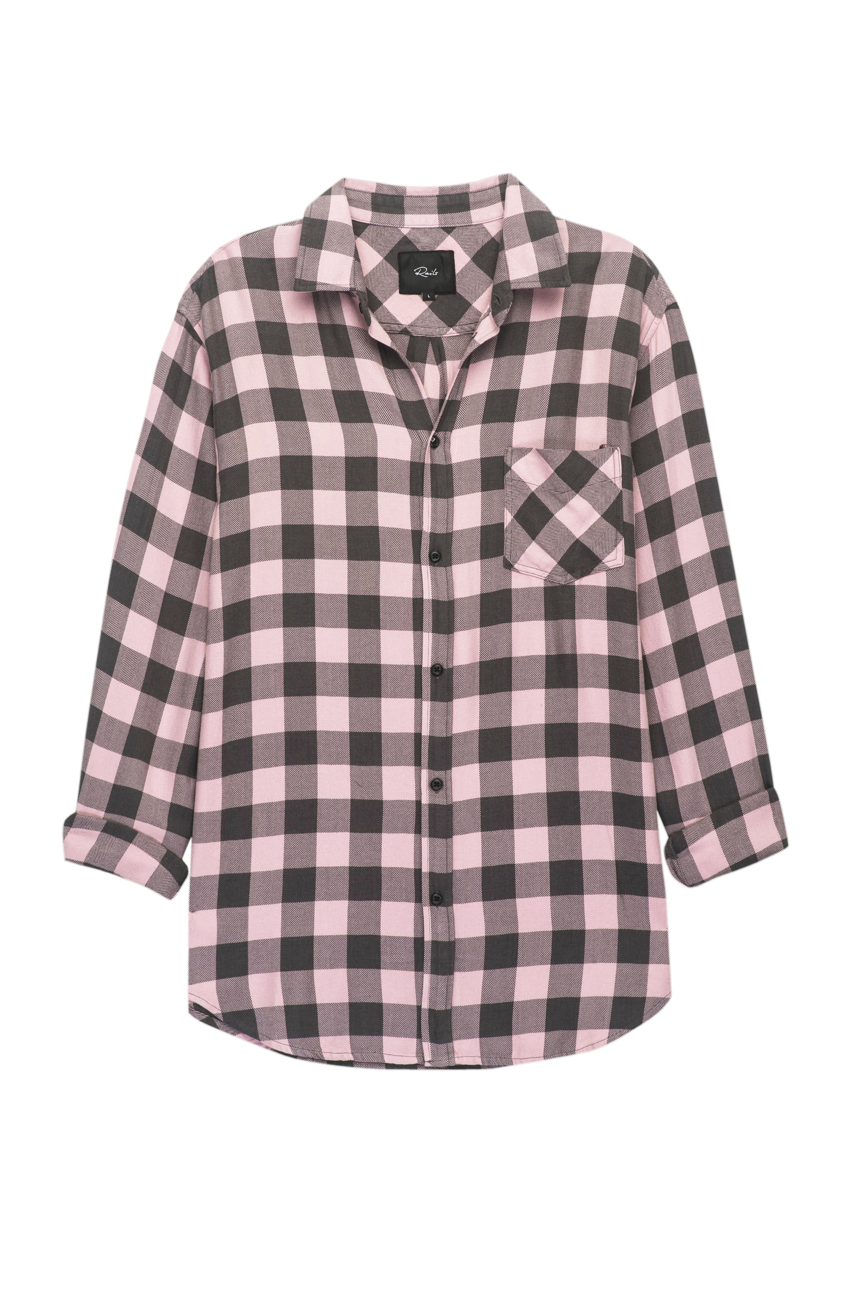 Lennox Pale Pink Charcoal shirt 3