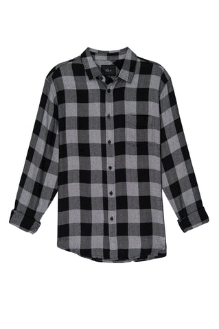 Lennox - Charcoal Black Check