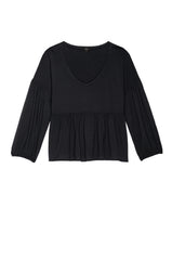 luella washed black tee flat