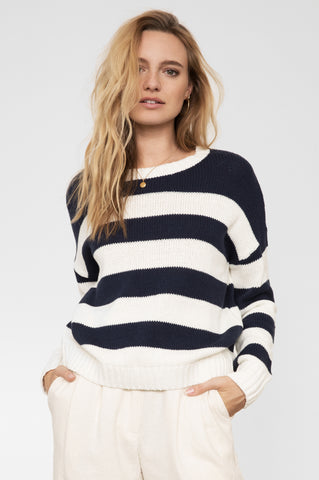 MARIN - NAVY WHITE STRIPE