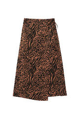 mayfair cinnamon mixed animal skirt flat