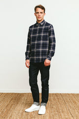 Forrest Navy Slate Bone shirt
