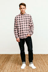 Lennox Pale Pink Charcoal shirt 2