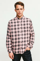 Lennox Pale Pink Charcoal shirt