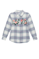 Milo - White Mist Floral Embroidery