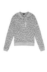 MURRAY - MELANGE GREY LEOPARD