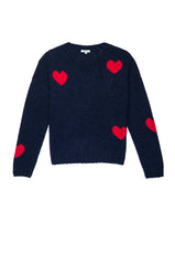 PERCI - NAVY SCARLET HEARTS