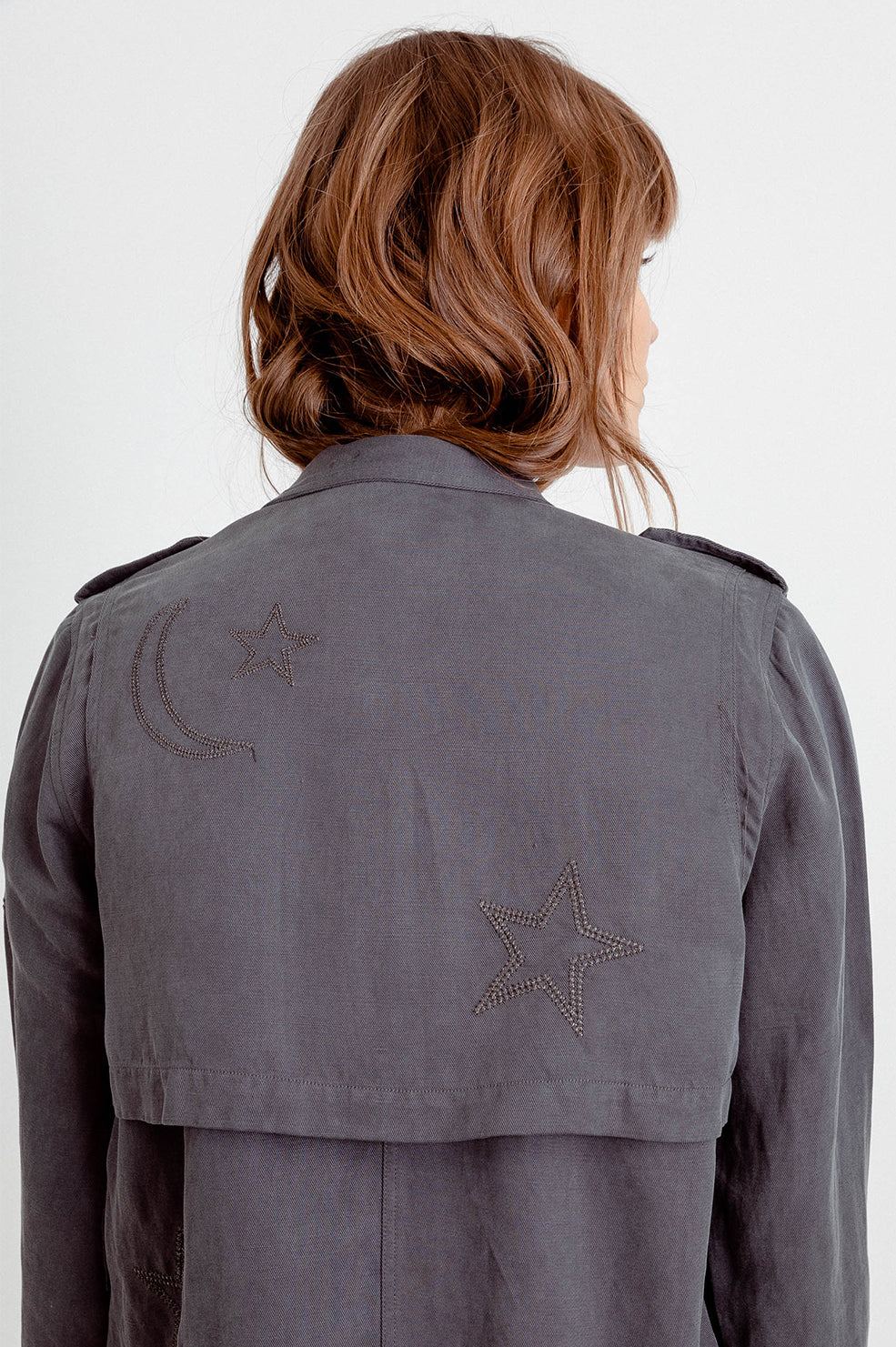PRE-ORDER ROWEN - DARK GREY WITH STAR EMBROIDERY