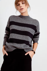 ELLISE - CHARCOAL MIDNIGHT STRIPE