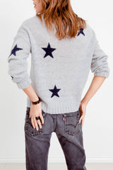 PERCI - LIGHT GREY NAVY STARS