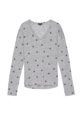 SAMI - HEATHER GREY RIVET STAR