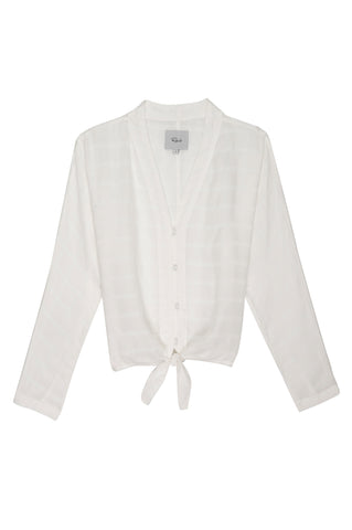 Sloane - White Tonal Plaid
