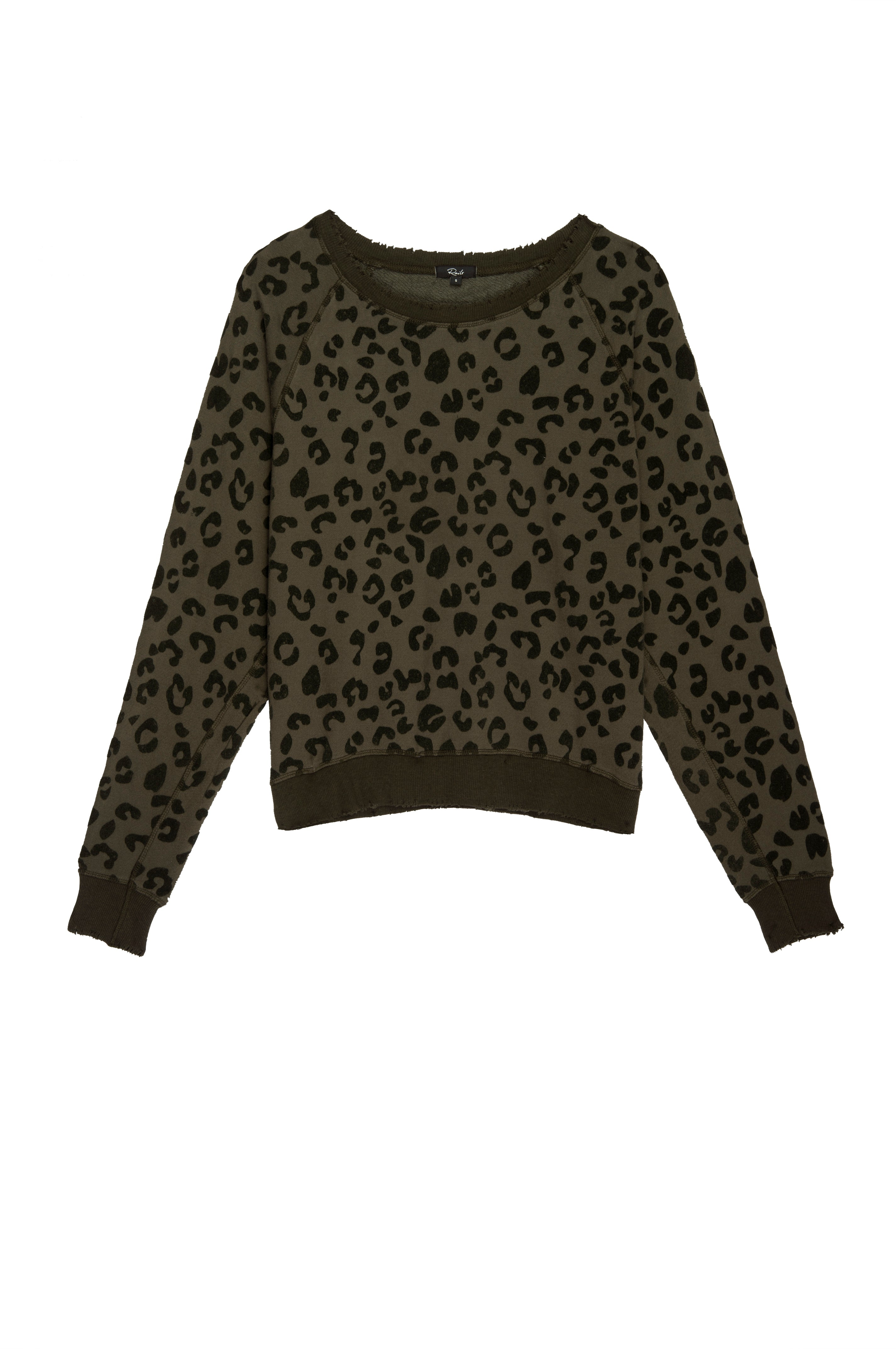 THEO - FLOCKED OLIVE LEOPARD