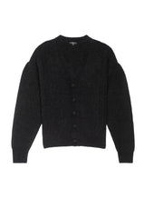 veronica black cardigan sweater flat