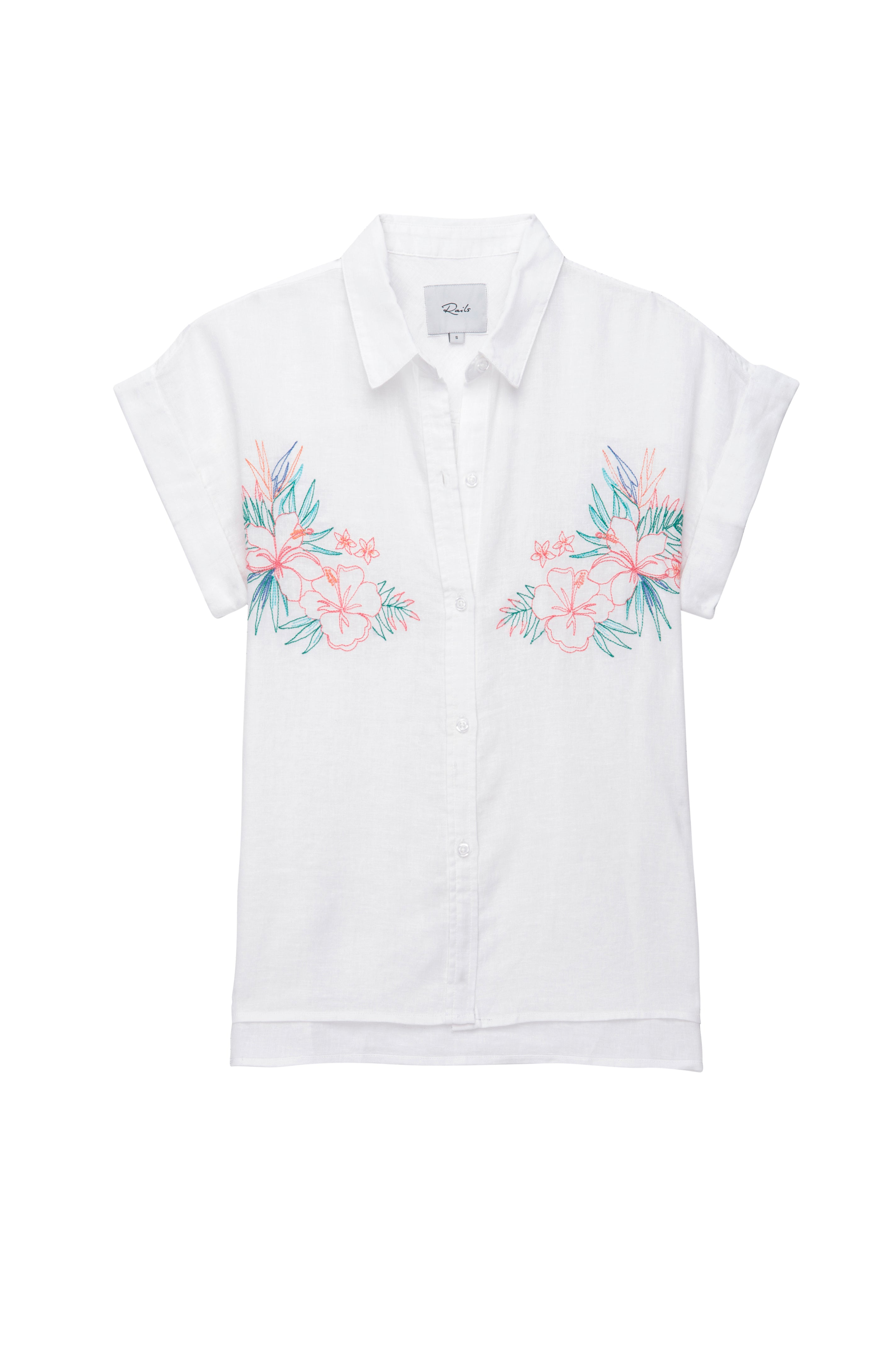 Whitney White Embroidery shirt