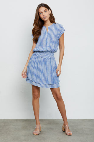 Angelina Cascade Stripe, Women's Short Sleeve Dress