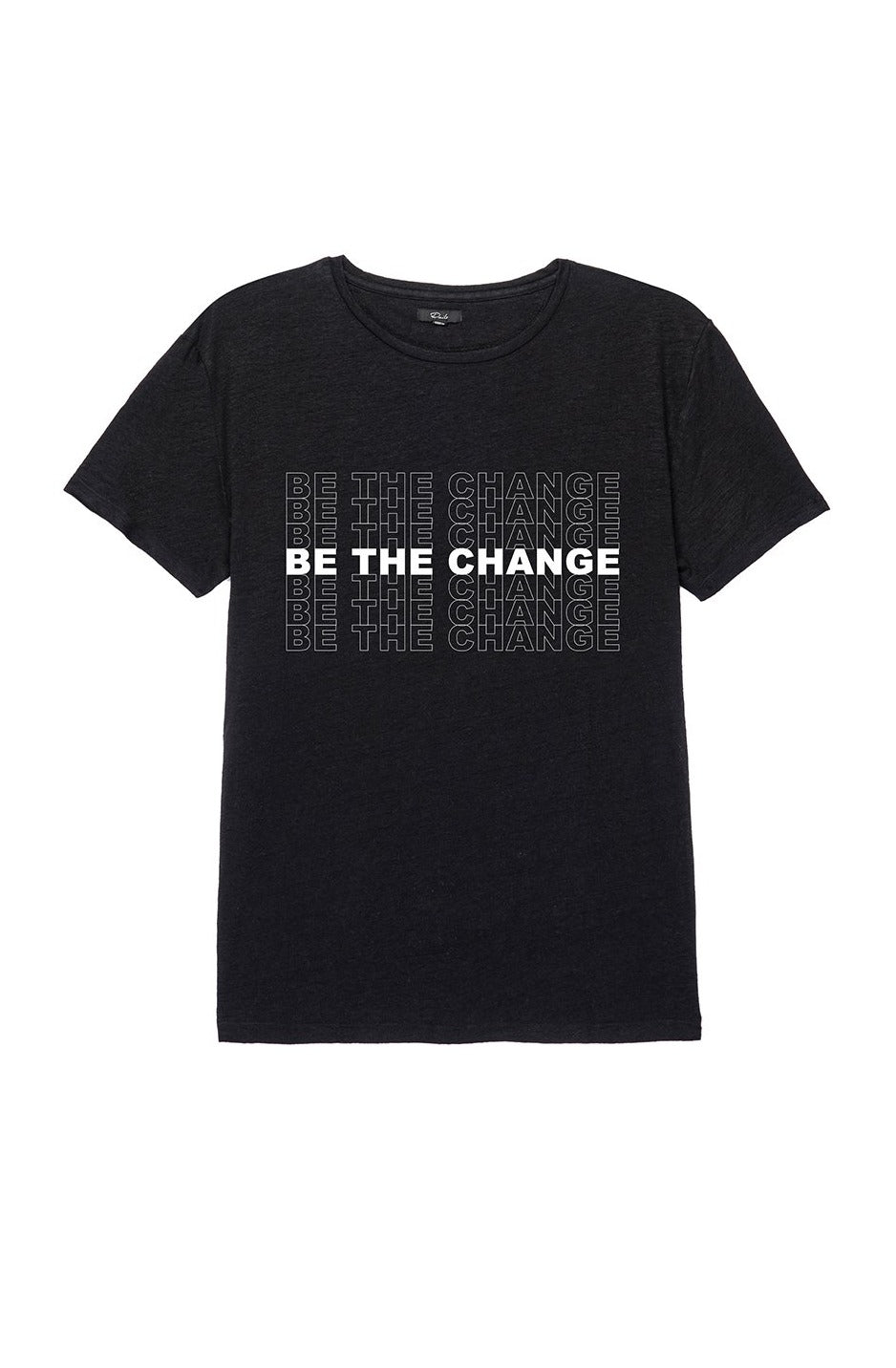 WOMEN'S BE THE CHANGE TEE - BLACK