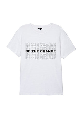 WOMEN'S BE THE CHANGE TEE - WHITE