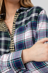 brando mixed brooklyn plaid shirt close up