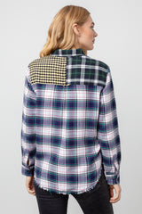 brando mixed brooklyn plaid shirt back