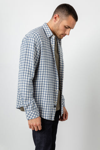 LENNOX - WASHED BLUE CREAM CHECK