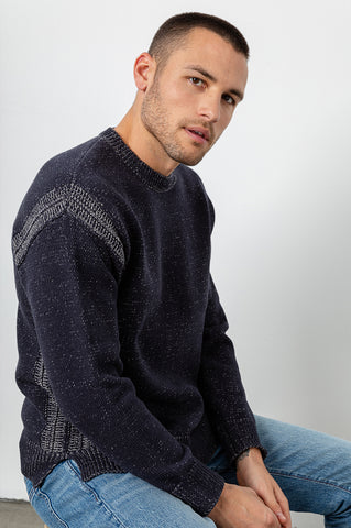Bryce navy sweater side