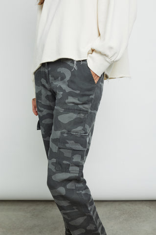 cargo charcoal camo pants front