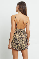 charlotte sand jaguar pajama cami top and short back