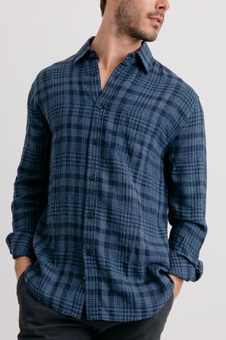 CONNOR - INDIGO PLAID