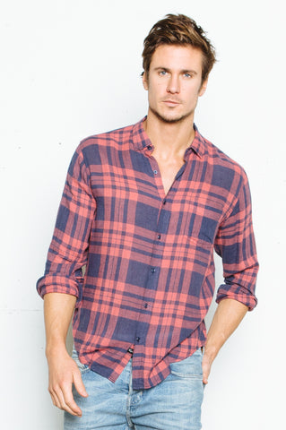 Connor - Maroon/Navy Plaid