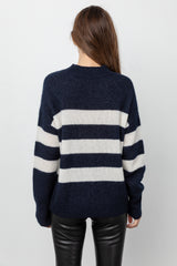 ELLISE - CADET VANILLA STRIPE