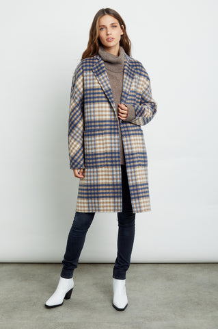 EVEREST - BEIGE BLUE PLAID