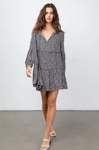Everly Freesia, Women's Long Sleeve Dress