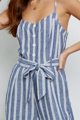 Harper Normandy Stripe, Women's Sleeveless Jumpsuit