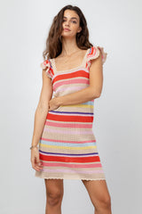 JUNE - TAN MULTI STRIPE