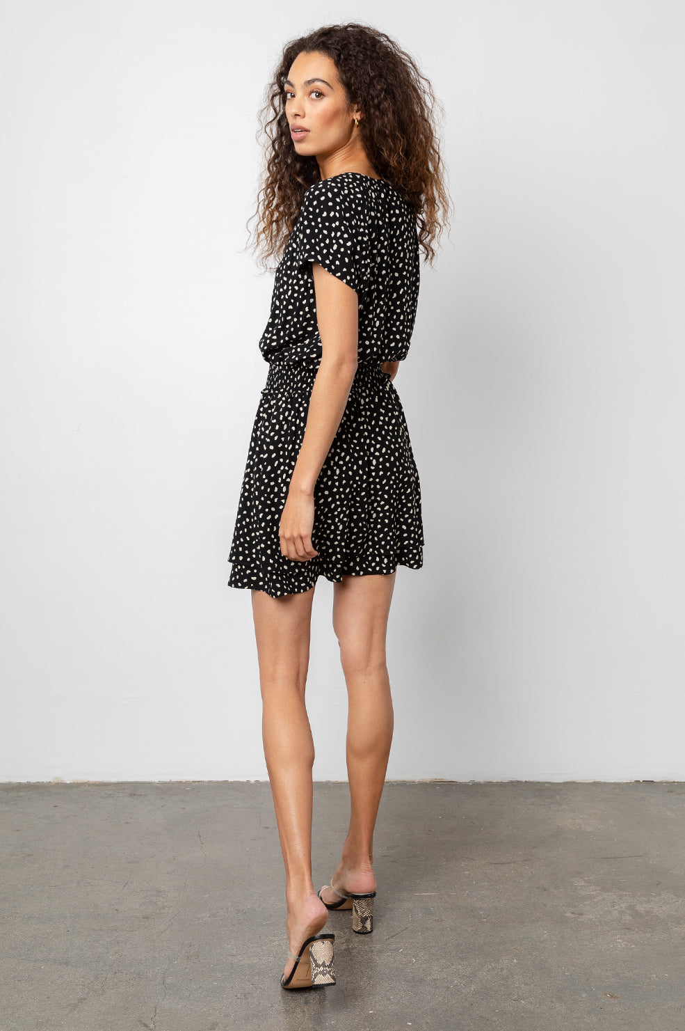 Karla Black Ivory Spots, Women's Short Sleeve Dress