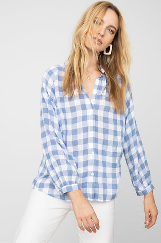 NATALIE - PERIWINKLE CHECK