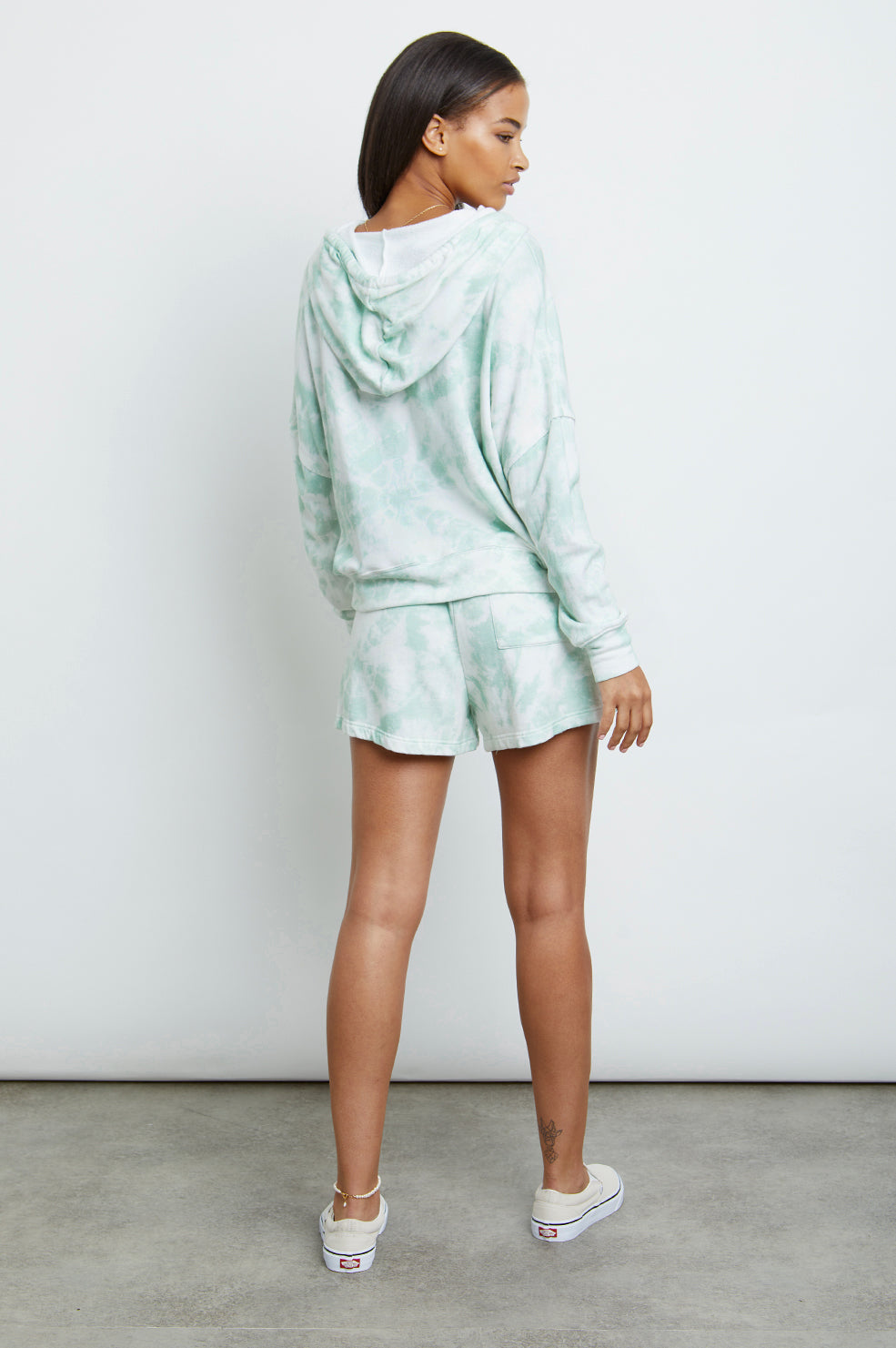 nico mint tie dye sweatshirt back