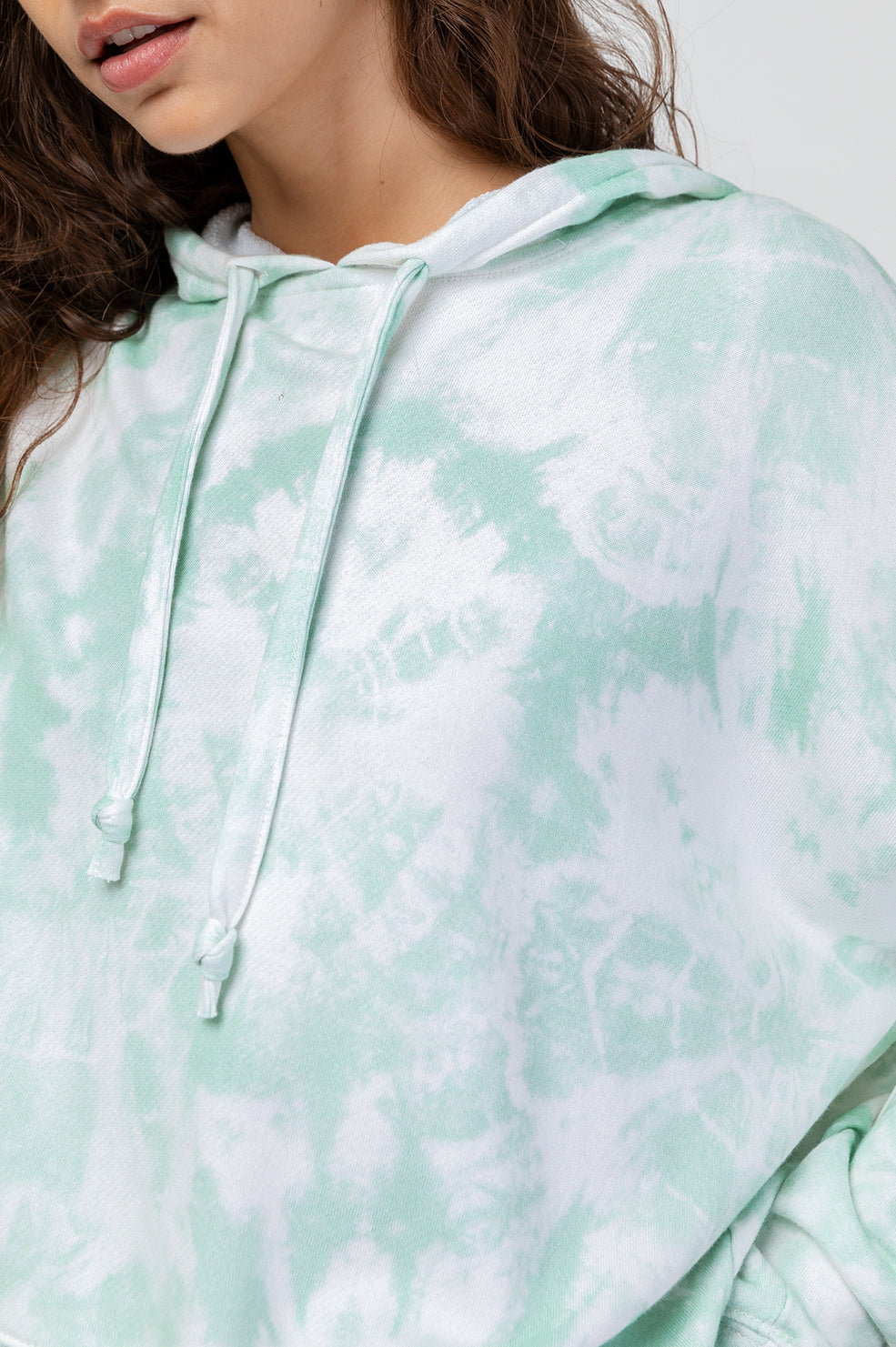 nico mint tie dye sweatshirt close-up