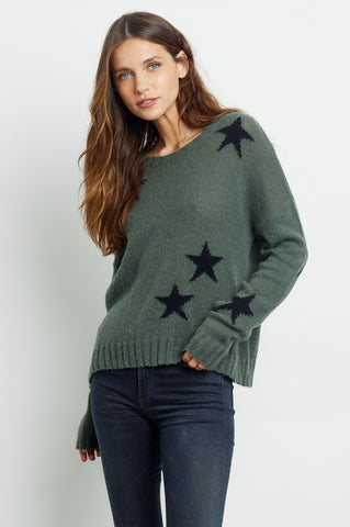 PERCI - OLIVE BLACK STARS