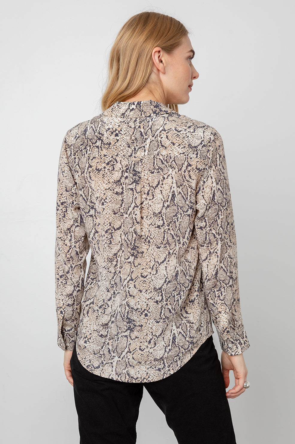 REBEL - SILK IVORY SNAKESKIN