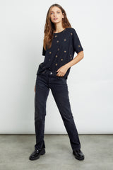 roman noir animal stars tee front tucked-in