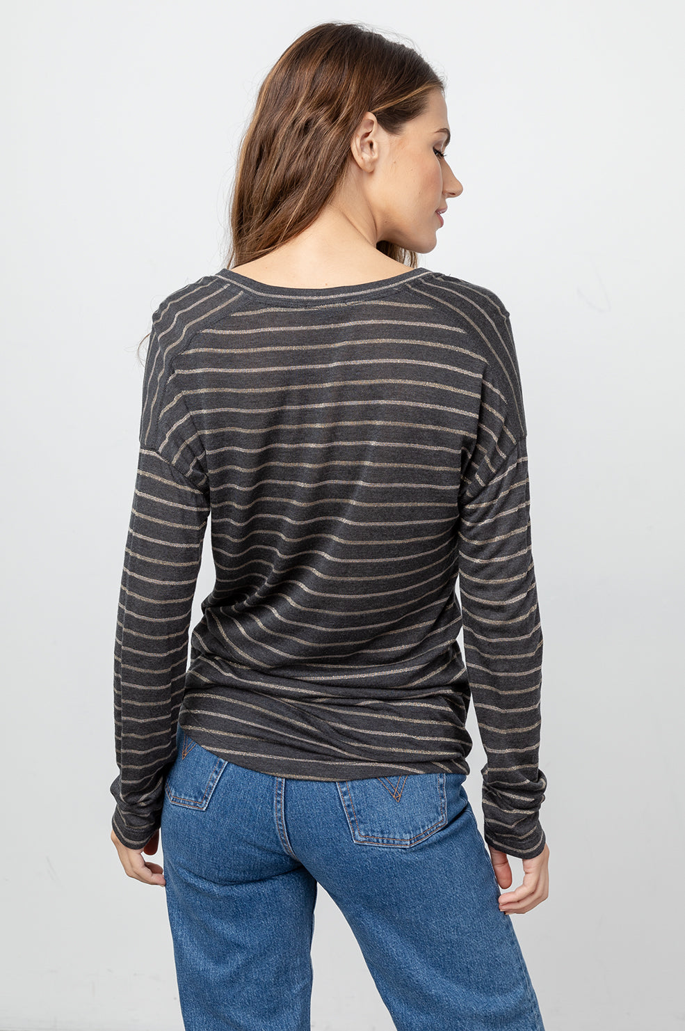 SAMI - CHARCOAL BRONZE STRIPE