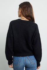 veronica black cardigan sweater back