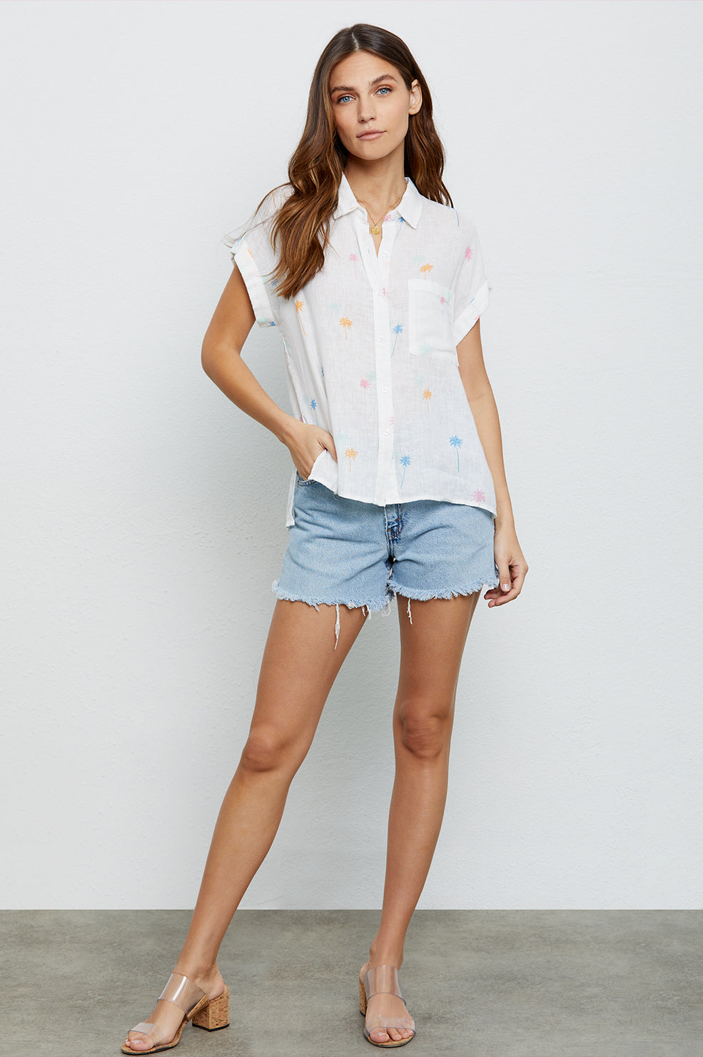 Whitney Neon Palms, Women's Short Sleeve Top