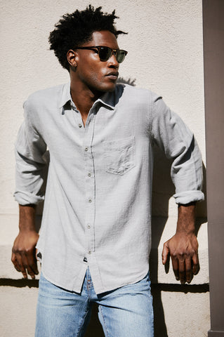 Wyatt seal, mens, button down