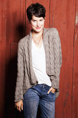 Wayside Lace Cardigan Pattern in Cashmere Queen Yarn FREE Pattern Download at Mondaes Makerspace & Supply