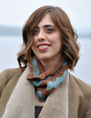FREE Chevron Cowl Knit Pattern in SimpliCria by Hikoo ON SALE NOW at Mondaes Makerspace & Supply!