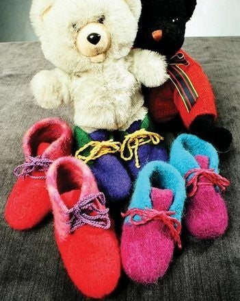 Children's Felt Boot Slippers