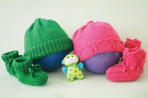 Baby Basics Hat & Bootie Sets